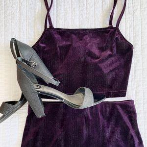 Two-piece purple set!